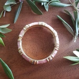 🌟2for$10 Pink Gold Enamel Vintage Bangle Bracelet